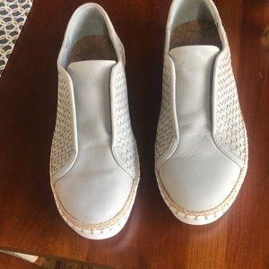 J Slide Kayla Light Grey Nubuck Shoes